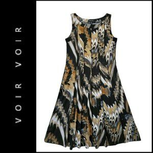 Voir Voir Women Sleeveless Fit & Flare Dress Sz 8